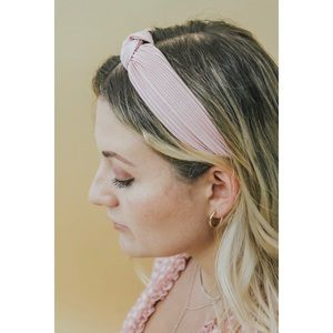 TWIST KNOT HEADBAND- BLUSH
